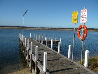 Old Jetty at Number 2 Boat Ramp, Lake Tyers Beach