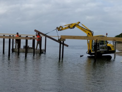 jetty upgrade at lake tyers beach 2 boatramp. Black Bedroom Furniture Sets. Home Design Ideas