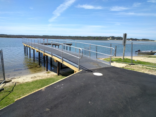 Railing added to #2Jetty at Lake Tyers Beach