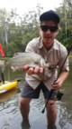 Estuary Perch caught by Jack Crooks, Lake Tyers